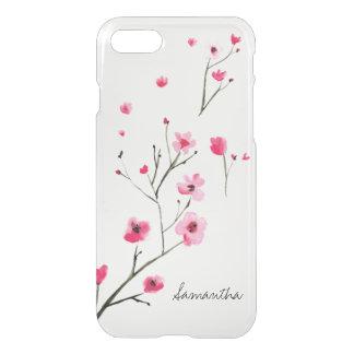 Körsbärsröda blommar för vattenfärg vid iPhone 7 skal