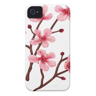 Körsbärsröda blommar iPhone 4 cover