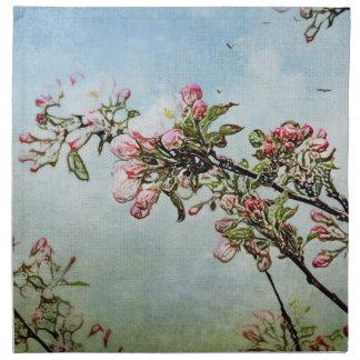 Körsbärsröda blommar näsduk