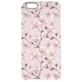 Körsbärsrött blommarblommamönster clear iPhone 6 plus skal