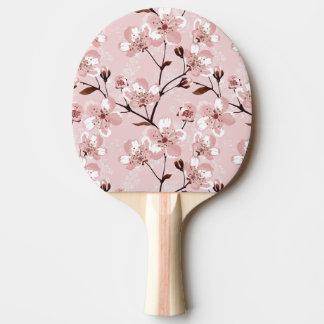 Körsbärsrött blommarblommamönster pingisracket