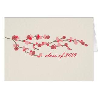 Körsbärsrött kort 2013 för blommarstudententack