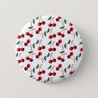 Körsbärsrött rött mönster standard knapp rund 5.7 cm