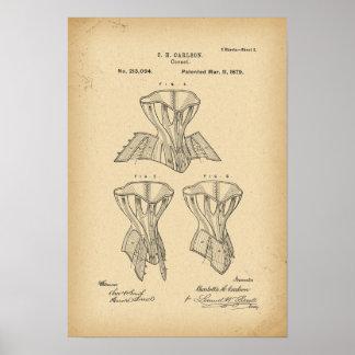 Korsett för 1879 patent poster