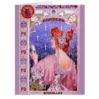 Korsettannons 1890 jumbo kort
