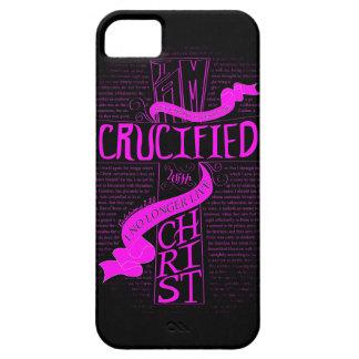 Korsfäst med Kristus - mobilt fodral - rosor/svart iPhone 5 Skydd