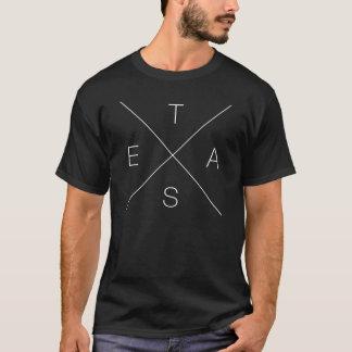 Korsmönstrad T-tröja för X TEXAS - vit T-shirt