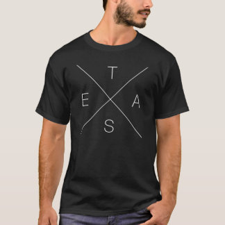Korsmönstrad T-tröja för X TEXAS - vit Tee Shirts
