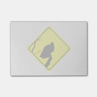 Korsning för gamkorsningen fågelSilhouette Post-it Lappar