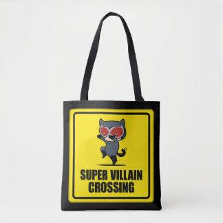 Korsningen för villainen för den Chibi catwomanen Tygkasse