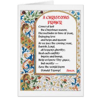 Kort #1 för julbön (Donald Trump)
