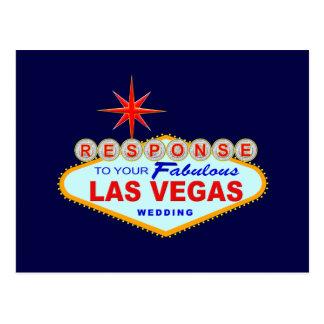 Kort 1 (vykortet) för Las Vegas bröllopsvar