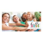 Kort 2014 för foto för hejgott nytt årfamilj skräddarsydda fotokort