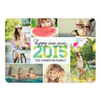 Kort 2015 för helgdag för Collage för foto för 12,7 X 17,8 Cm Inbjudningskort