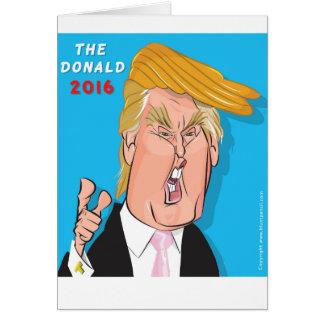 Kort 2016 för Donald Trump presidentCatoon