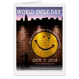 Kort 2016 för världsleendeDay® hälsning