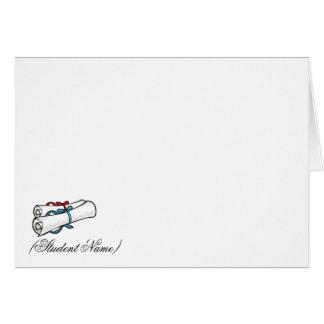 Kort/brevpapper för personligstudententack
