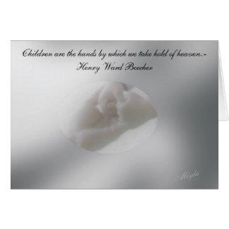 Kort för adoption, nyfödda bebis