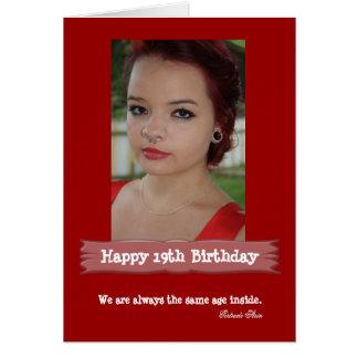 Kort för ålderfotofödelsedag hälsningskort
