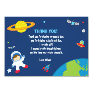 Kort för astronaututrymmetack 12,7 x 17,8 cm inbjudningskort