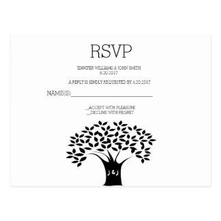 Kort för B&W-trädbröllop OSA