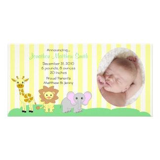 Kort för baby djurtillkännagivande för födelsefoto
