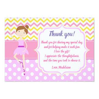 Kort för Ballerinafödelsedagtack 12,7 X 17,8 Cm Inbjudningskort