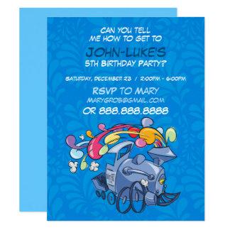 Kort för barns födelsedagpartyinbjudan 10,8 x 14 cm inbjudningskort