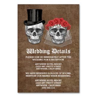 Kort för bilaga för day of the deadskallebröllop
