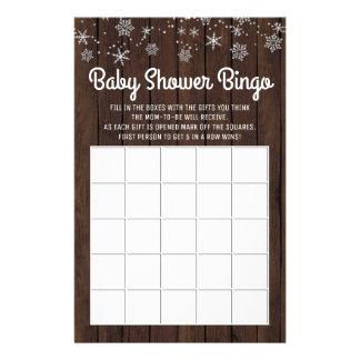 Kort för Bingo för baby för Snowflake för baby Reklamblad 14 X 21,5 Cm