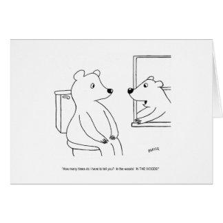 Kort för björntecknadfödelsedag