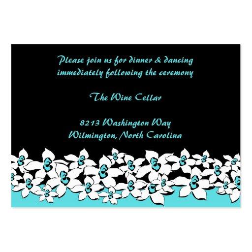Kort för blåa blommormottagandemellanlägg visitkort