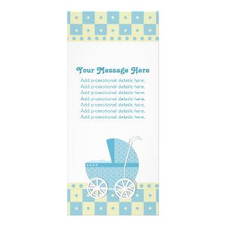 Kort för blått- och gultbarnvagnkugge
