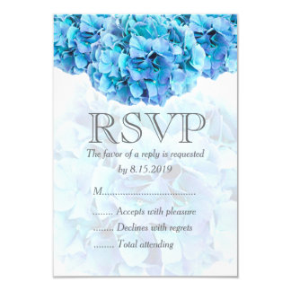 Kort för blåttvanlig hortensiabröllop OSA 8,9 X 12,7 Cm Inbjudningskort