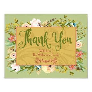 Kort för blommigtpersonligtack 10,8 x 14 cm inbjudningskort