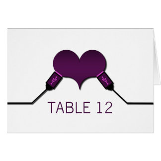 Kort för bord för kärlekanslutningsUSB, lila