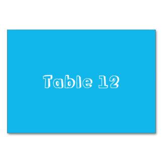 Kort för bord för mall för bassängpartyblått