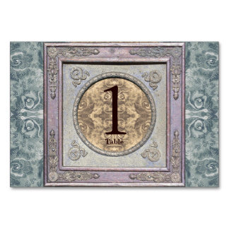 Kort för bord för Tapestry 2 för vintageram