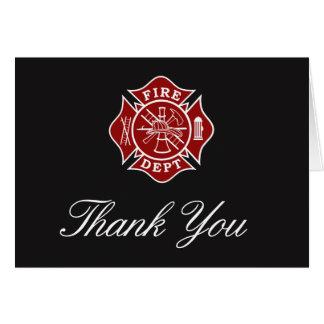 Kort för brandmantackhälsning