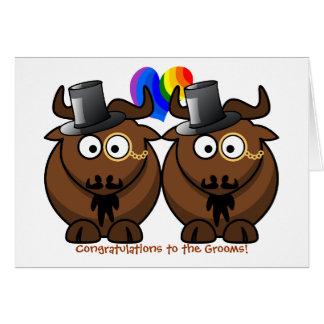 Kort för bröllop för top hatGnugay pride för