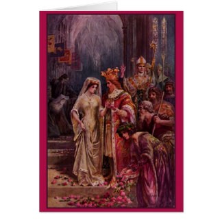 Kort för bröllop för vintagekung Arthur