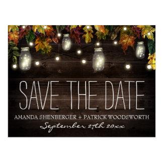 Kort för bröllop spara datum för burk för