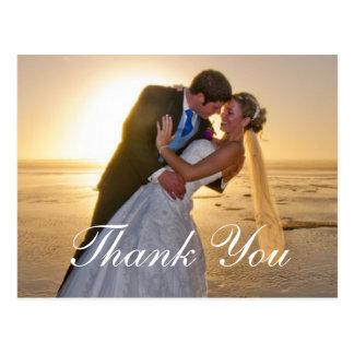 Kort för bröllopfototackkort vykort