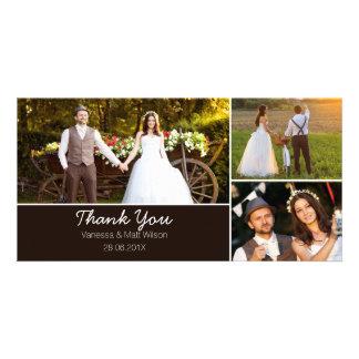 Kort för brölloptackfoto fotokort