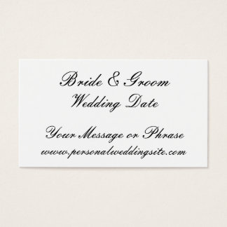 Kort för bröllopWebsitemellanlägg för inbjudningar