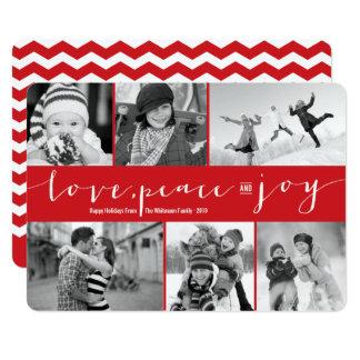 Kort för Collage för foto för helgdag för 12,7 X 17,8 Cm Inbjudningskort