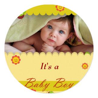 Kort för DesignBeyondReason pojkeinviation Fyrkantigt 13,3 Cm Inbjudningskort