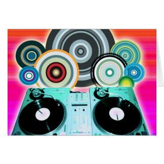Kort för DJ-Turntablekonst