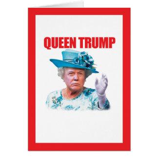 Kort för Donald Trump drottningtrumf