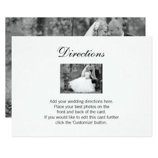 Kort för elegant bröllopfotoriktningar 12,7 x 17,8 cm inbjudningskort